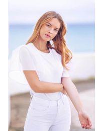 Κοντομάνικο μπλουζάκι - κώδ. 527 - λευκό