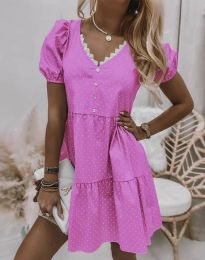 Φόρεμα - κώδ. 8292 - ροζ