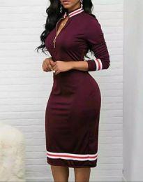 Φόρεμα - κώδ. 3565 - 3 - μπορντό