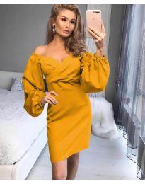 Φόρεμα - κώδ. 6761 - κίτρινο