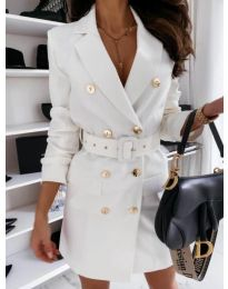 Φόρεμα - κώδ. 5888 - 2 - λευκό