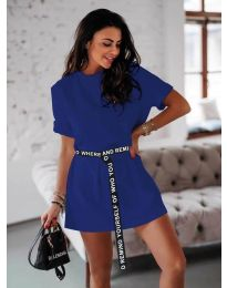 Φόρεμα - κώδ. 809 - σκούρο μπλε