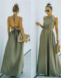 Φόρεμα - κώδ. 6121 - λαδί