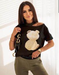Κοντομάνικο μπλουζάκι - κώδ. 11711 - μαύρο