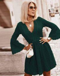 Φόρεμα - κώδ. 6239 - σκούρο πράσινο