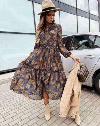 Φόρεμα - κώδ. 9660 - 5 - πολύχρωμο