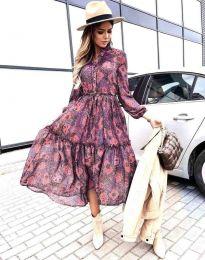 Φόρεμα - κώδ. 9660 - 4 - πολύχρωμο