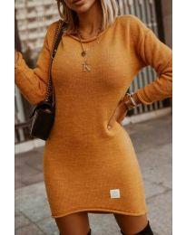 Φόρεμα - κώδ. 0824 - μουσταρδί