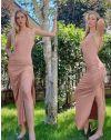 Φόρεμα - κώδ. 7858 - ροζ
