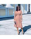 Φόρεμα - κώδ. 4572 - ροζ